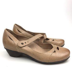Abeo leather Mary Jane low heel flats comfort